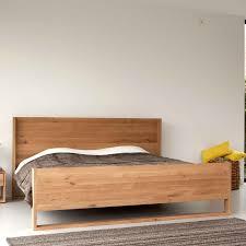 Solid Bedroom Furniture Ethnicraft Nordic Oak Bed Solid Wood Furniture Bedroom