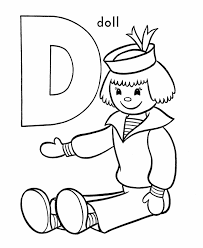 Small Picture Alphabet Letter D Coloring Page A Free English Coloring