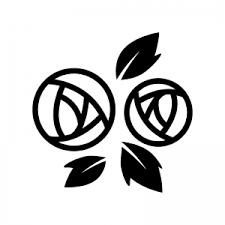 バラの花の白黒シルエット02 無料のaipng白黒シルエットイラスト