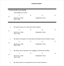 Survey Template Doc 18 Student Survey Templates Samples Doc Pdf Excel