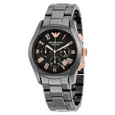 emporio armani watches jomashop emporio armani ceramica chronograph black dial men s watch