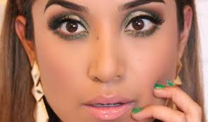 gold and green eye look full face makeup tutorial holiday 2016 you