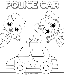 Download this cars and vehicles coloring book for your kids ambulance firetruck vector illustration now. Police Car Coloring Pages For Kids