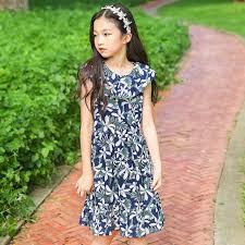 girl size 5 dresses floral pattern summer dress for girl size 10 14 8 6 5 knee length