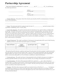Partnership Agreement Business Templates Business Small