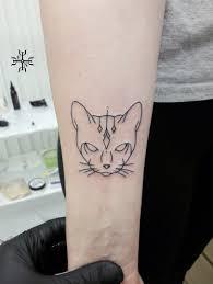 татуировка на предплечье у девушки кошка I Tattoos