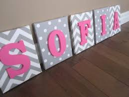 walls hanging baby wooden letters nursery nailed houses decorated named persons canvas borderless stripes themes