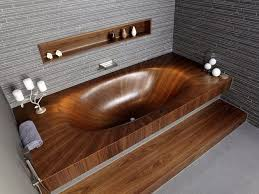 three images above are showcasing the insanely graphic laa basic bathtub by alegna the sumptuous design is defined by the wood s fiber flowing into a