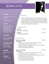 Resume Sample Download In Word Best Professional Resume Template Download Word Format Free