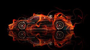 pagani zonda revolucion fire abstract car
