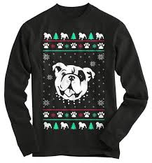 Bulldog Ugly Christmas Sweater - T-Shirt – Gnarly Tees