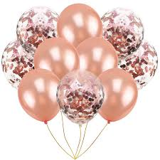 Us 0 94 33 Off Rose Gold Balloons Air Birthday Deco Gold Confetti Ballons All For Birthday Party Decorations Kids Adult Balls Helium Blue Globs In