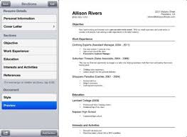 app resume how to prepare your resume on iphone 4 resume apps iphoneness