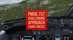Prepar3d V3 3 Pmdg 737 Challenging Approach 29 Palms Samos Lgsm
