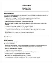 Accounting Resume Objective Amazing 28 Accountant Resume Templates In PDF Free Premium Templates