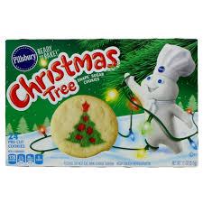 pillsbury cookies. Simple Cookies Pillsbury Ready To Bake Christmas Tree Shape Sugar Cookie U2011 Shop Biscuit U0026  Dough At Hu2011Eu2011B For Cookies