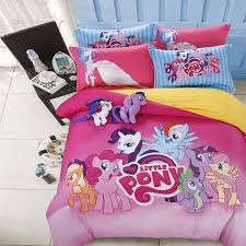 100 pure cotton twin queen full size my little pony bedding set intended for modern residence pony bedding set decor