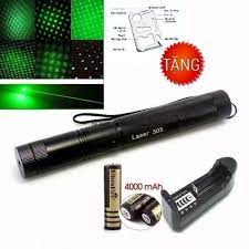 Đèn pin Laser 303, Đèn laser 303 tia xanh, chiếu sao, Bút trình chiếu laze  lazer