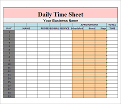free timesheets templates excel daily time sheet template excel