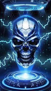 Wallpaper Blue Red Fire Skull - Novocom.top