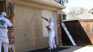 paint garage door with roller white touch for doorhow to look like stone metal remove from prep and