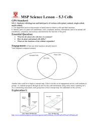 Venn Diagram Comparing Animal And Plant Cells 5 6_cells Coastal Plains Msp Links