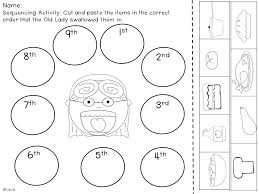 There Was an Old Lady Who Swallowed a Pie- Literacy Mini Pack ...