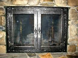smlf contemporary brushed nickel fireplace doors modern sentry glass door