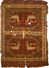 figure 13 close up of carpet in husband and wife details of the octagonal design on the tapestry