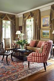 traditional living room furniture ideas. i want the red checked chair and area rug hate drapes wall colors house with vibrant patterns traditional home living room furniture ideas d