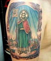 татуировка икона александр невский тату сделана тремя Flickr