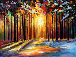 sun of january palette knife oil painting on canvas by leonid afremov size 40