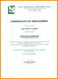 Example Of A Certificate Of Employment Grievance Letter Template To Employer Images Of Admin