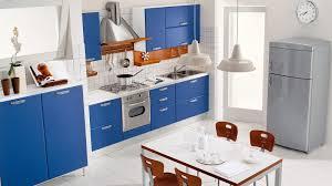 Modern Kitchen And Bedroom Minimalist Blue Modern Kitchen Design With Pink Chair Kitchen