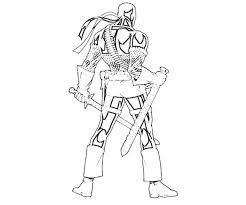 Small Picture People Printable Deathstroke Coloring Pages Arkham Origins