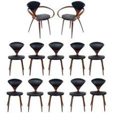 set of 12 sculptural dining chairs by norman cherner for plycraft cherner furniture