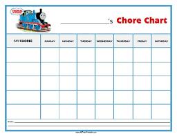 Thomas Tank Engine Chore Chart Free Printable