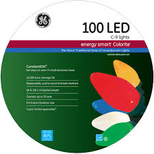 stylish ideas ge lights led multi color c9 led bright cheery from sears