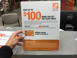 Home Depot Credit Card Discount On First Purchase