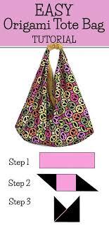 Origami Bag Tutorial: Easy to Make Market Tote Bag   Origami tote ...
