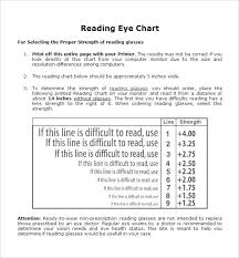 Reading Glasses Size Chart Reading Eye Chart Printable Www Bedowntowndaytona Com