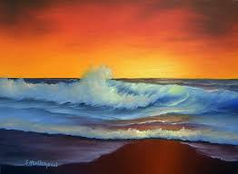 sunset painting sunset beach by francine henderson