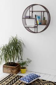 ... View In Gallery Circular Wall Shelf From Urban Outfitters White Colored  Wall Metal Material Racks Round ...