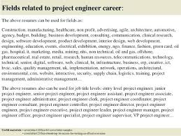 Sample Cover Letter For Project Engineer Fields Related To Project