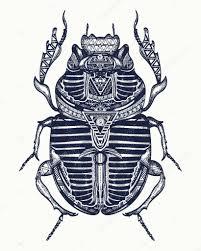 Scarab Tetování Umění Starověkého Egypta Faraon Duchovní Důkazem