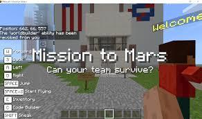 Worldbuilder Game Design With Minecraft Coding Camp Mission To Mars