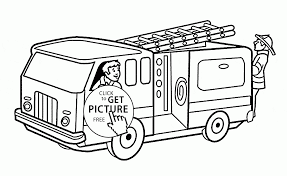 Small Picture Fireman in the Fire Truck coloring page for kids transportation