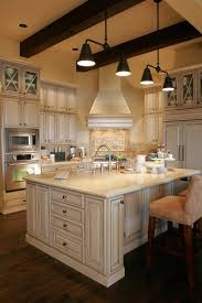 Kitchen:French Country Kitchen With Big Island And Twin Pendant Lamp 25+  Modern French