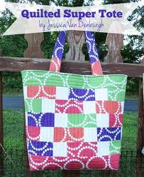 Quilted Super Tote Bag - Free Sewing Tutorial & Free Bag Pattern - Quilted Super Tote Bag Adamdwight.com