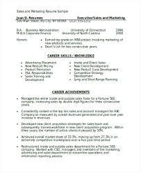 Marketing Resume Sample Sales And Marketing Resume Sample Doc